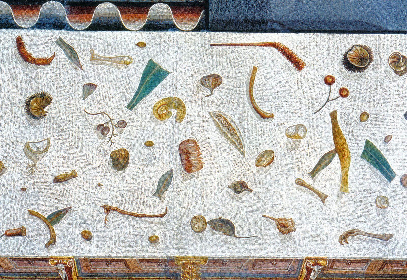 Suelo sin barrer, mosaico griego, s.f.
