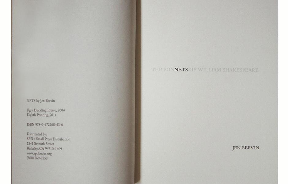 Nets de Jen Bervin 2
