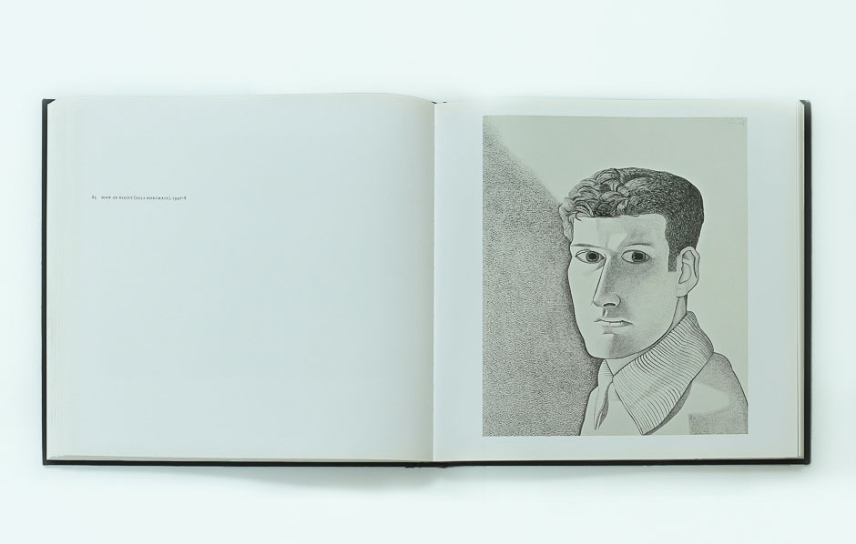 lucian freud on paper 8 _selfportrait