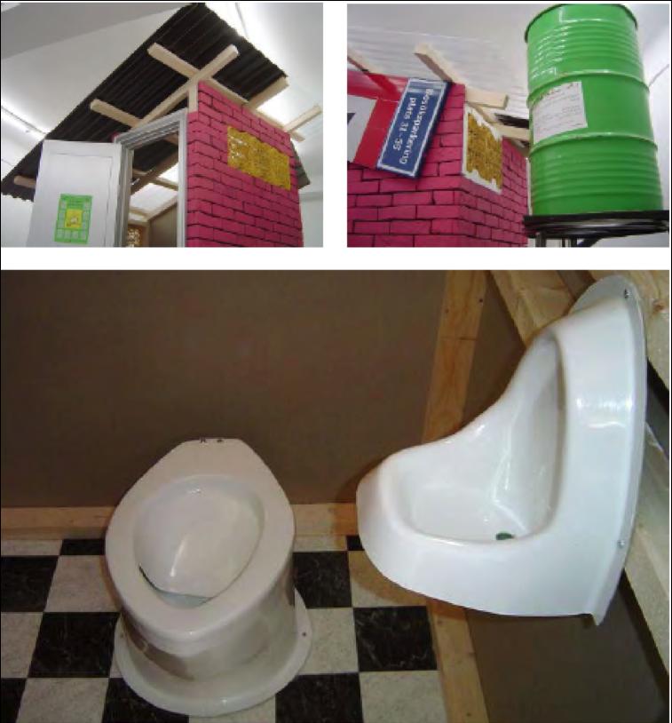 Versión 3 de Caracas: Dry Toilet. 2003. Materiales de construcción. 2.0 x 2.7 x 3.2 mt. Galerie Nordenhake, Berlín, Stockholm. 03 marzo – 17 abril, 2004. Cortesía de la artista y Galerie Nordenhake.