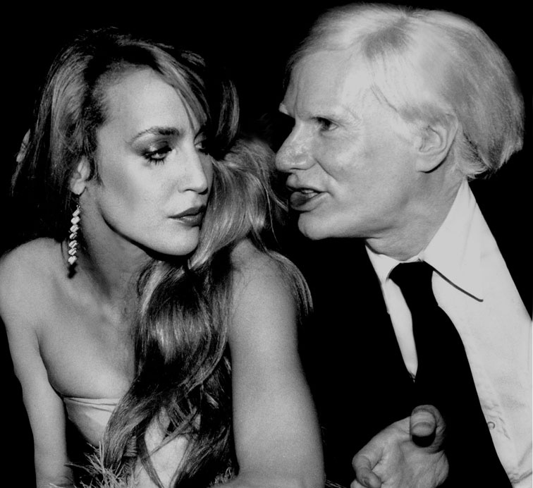 Jerry Hall & Andy Warhol by Rose Hartman 1