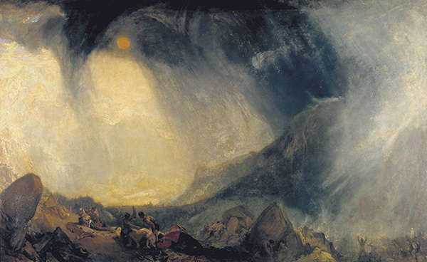 William Turner, Snow Storm: Hannibal and his Army Crossing the Alps, 1812.