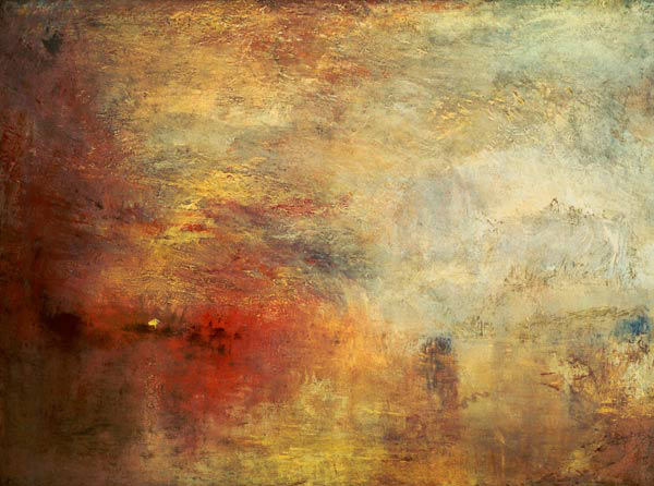 William Turner, Sundown Over A Lake, 1840.