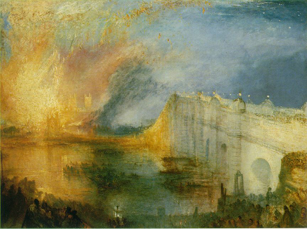 William Turner, The Burning of the Houses of Lords and Commons, 1835.