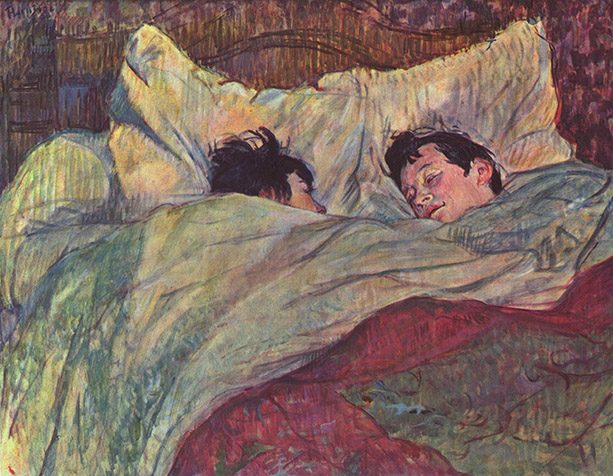 Henri de Toulousse-Lautrec,The Bed (Le Lit), 1892.