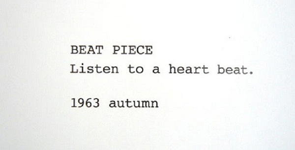 Yoko Ono, Beat Piece 1964.