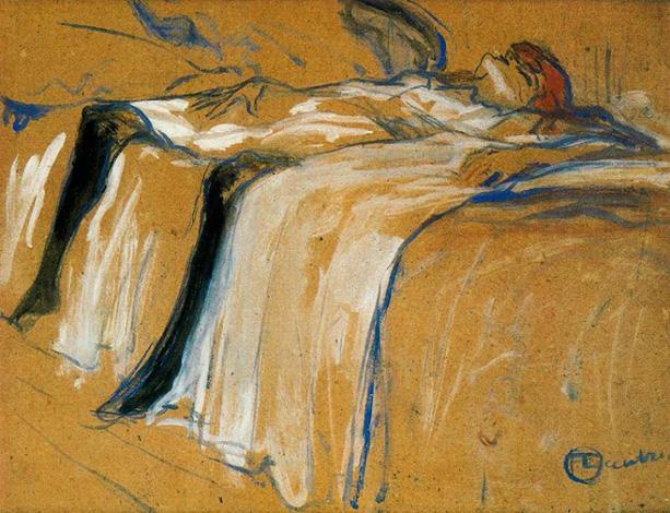 Henri de Toulousse-Lautrec, Alone, 1896.