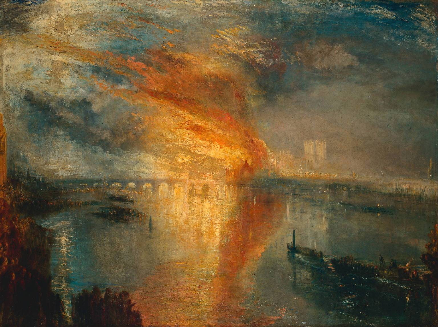 William Turner, The Burning of The Houses of Parliament, 1835.