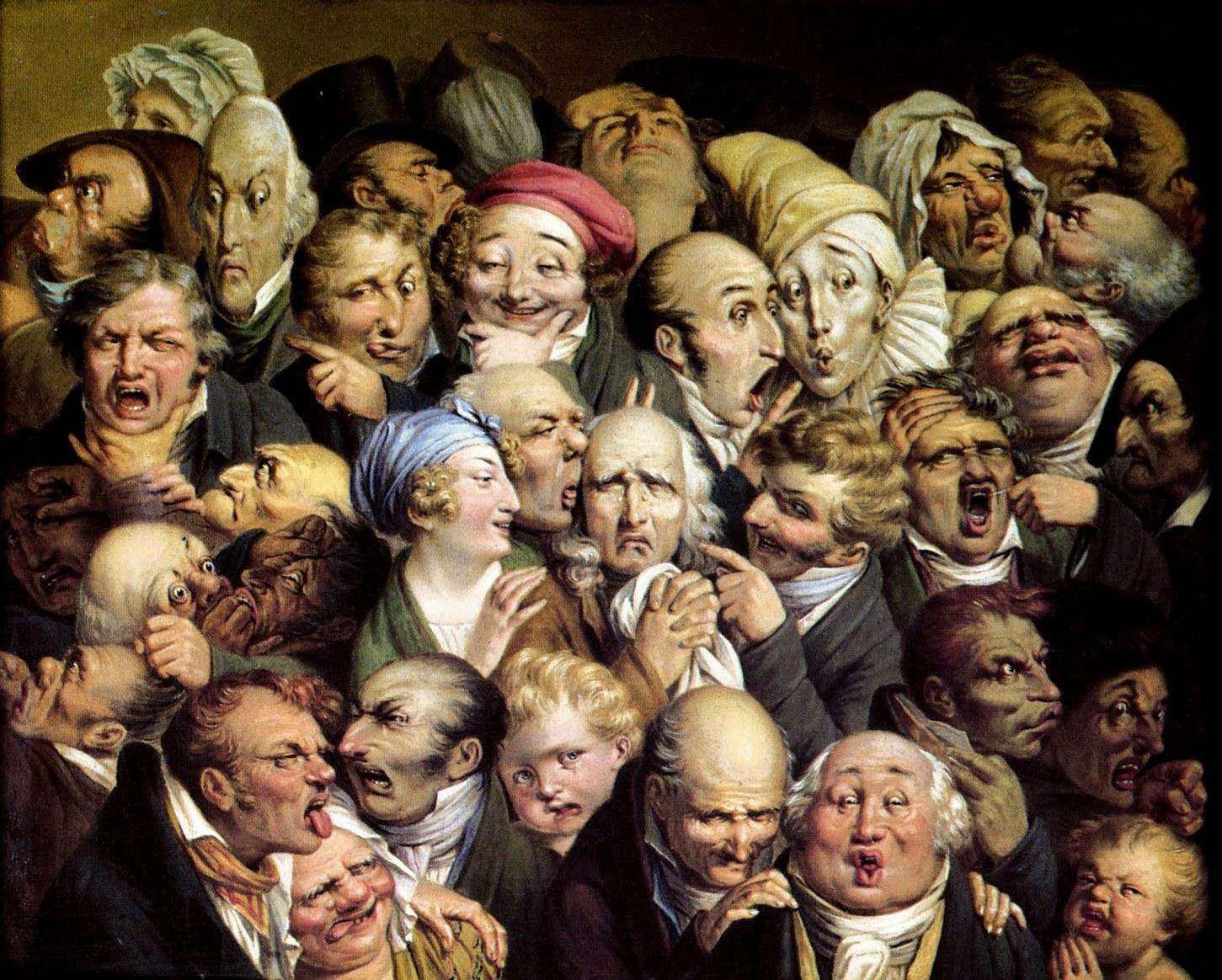 Louis-Leopold Boilly. «Réunion de 35 têtes diverses» (circa 1820).
