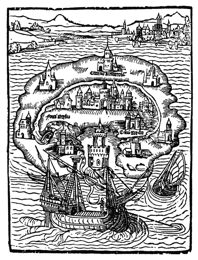 Primera edición de Utopía de Tomás Moro, 1516.