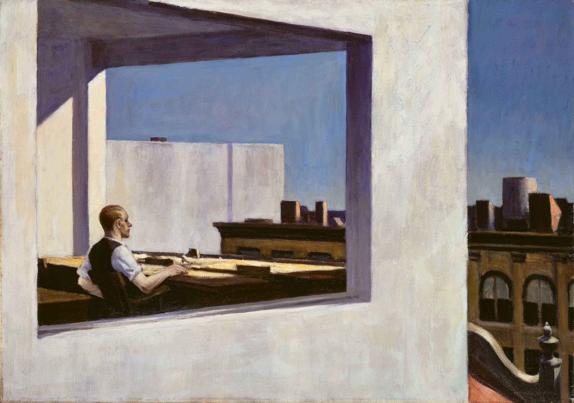 © Edward Hopper. Office in a Small City, 1953.