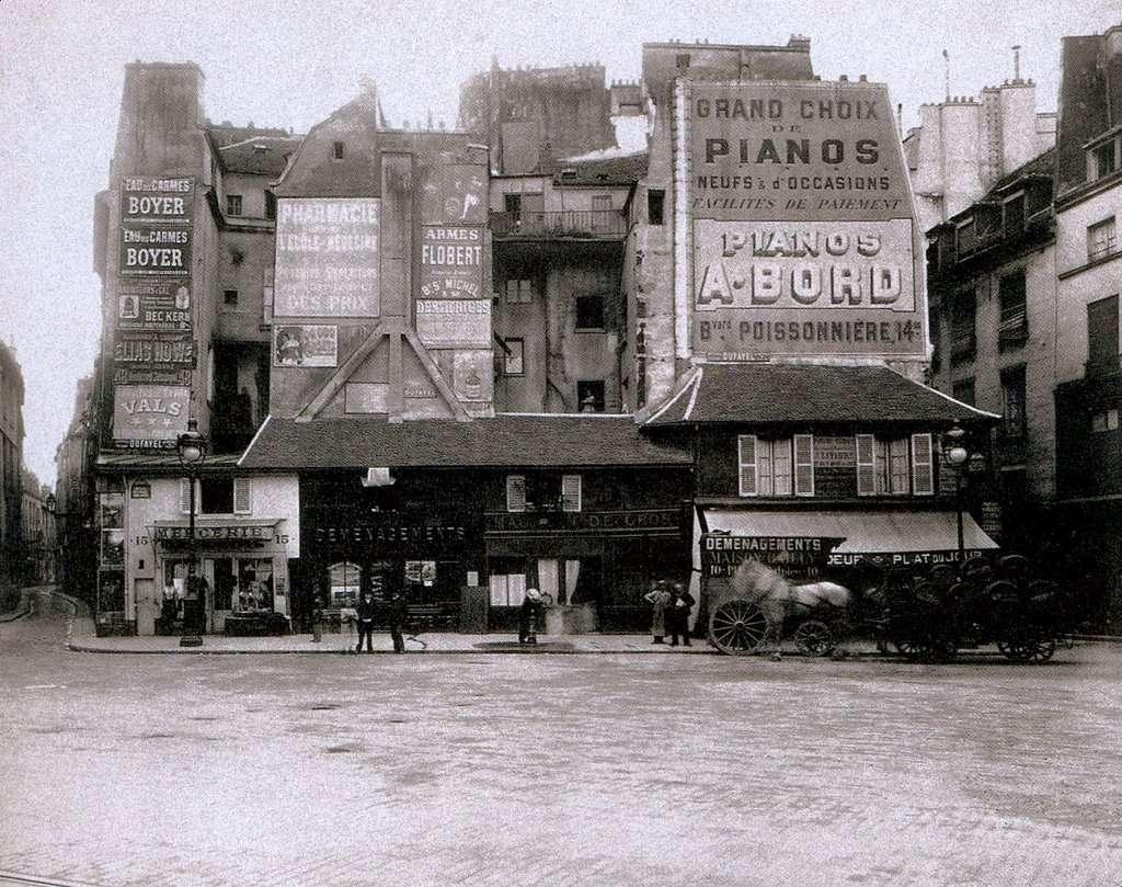 Eugène Atget, Place Saint-André-des-Arts, 1904
