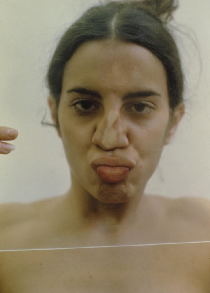 Ana Mendieta. Sin título (Vidrio sobre cuerpo). 1972.