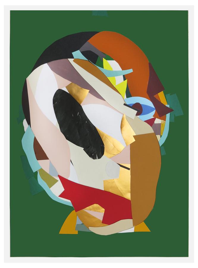 Todos los vivos muertos. Collage sobre papel serigrafiado. 2016.