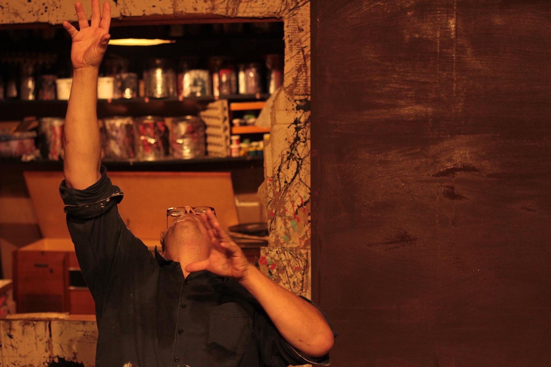 Basilio Álvarez, interpretando a Mark Rothko. Foto: Daniel Dannery.