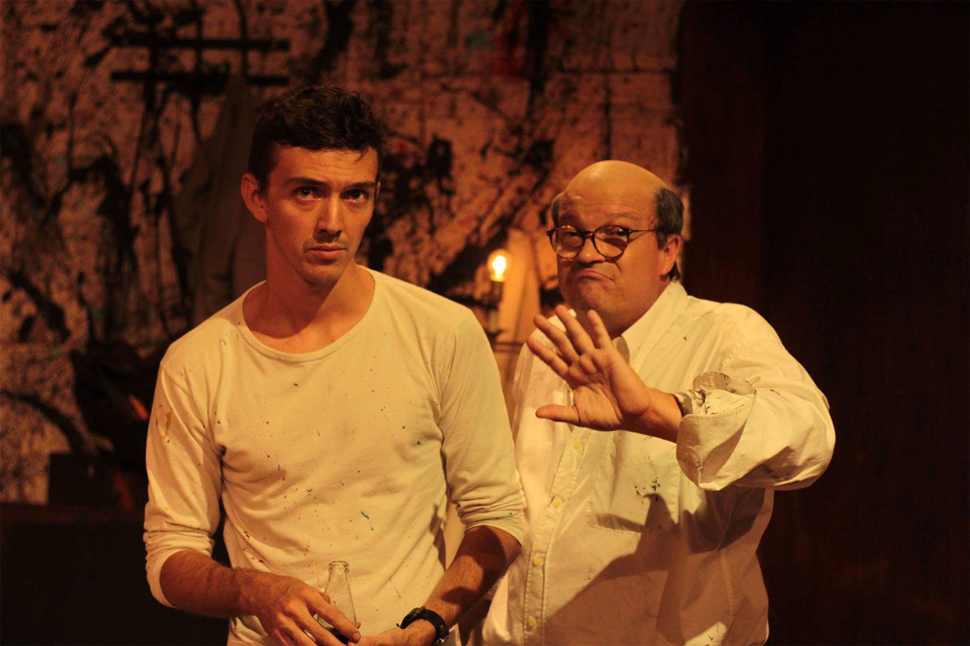 Gabriel Agüero y Basilio Álvarez en el montaje de Rojo. Foto: Daniel Dannery.