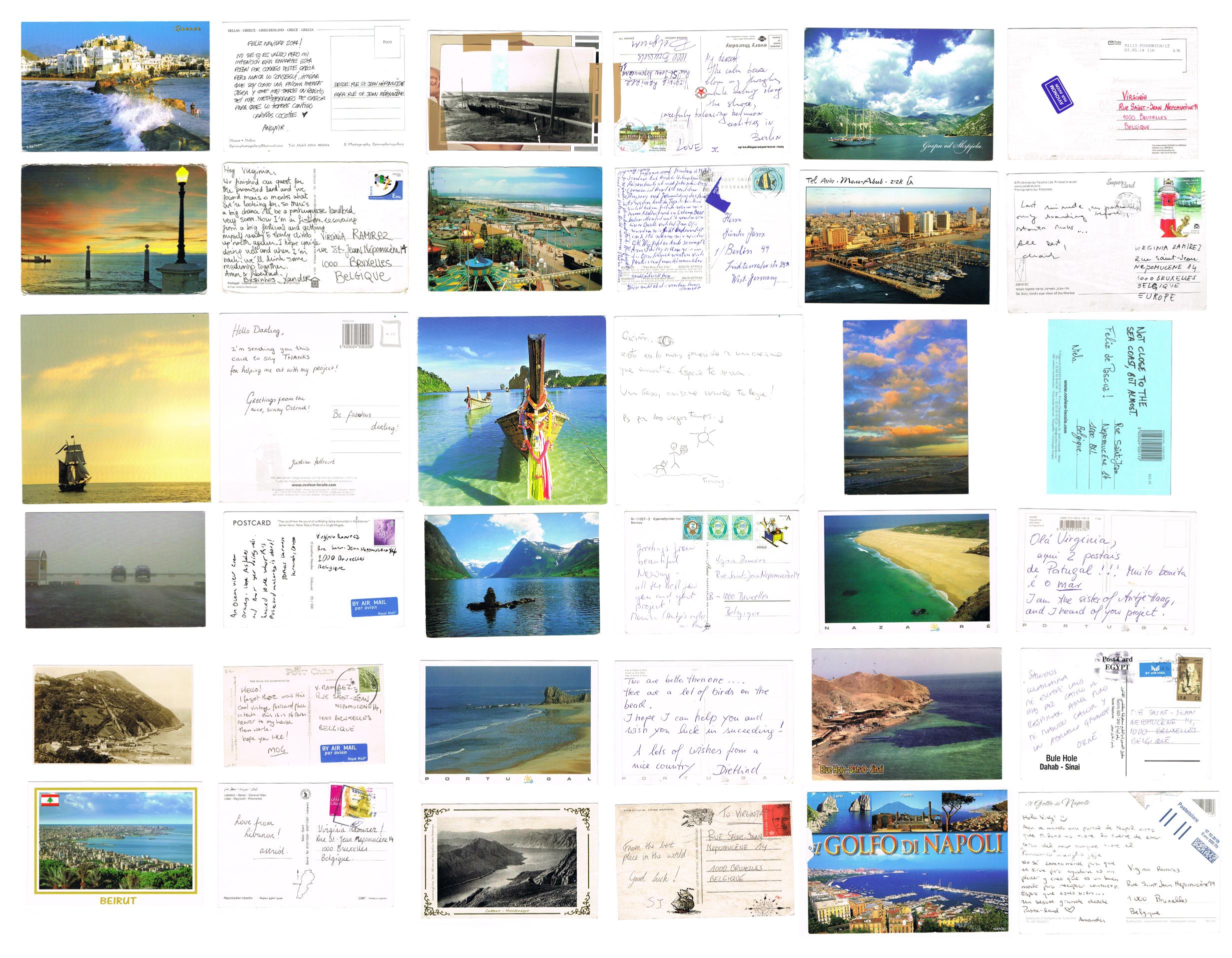 Ocean View (2014), postales recibidas entre enero-abril 2014