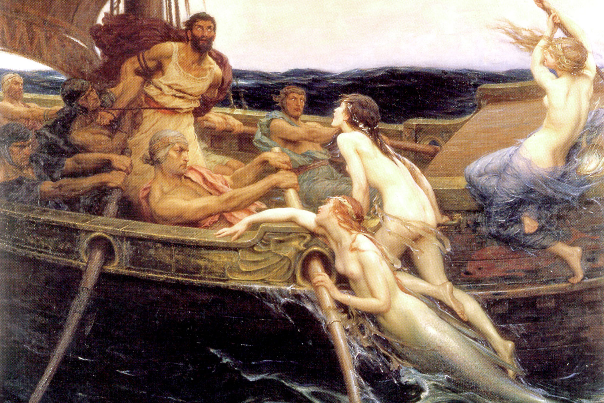 """Ulysses and the sirens"", Herbert James Draper."