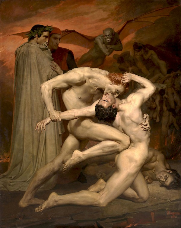 Dante y Virgilio en el infierno, por William-Adolphe Bouguereau